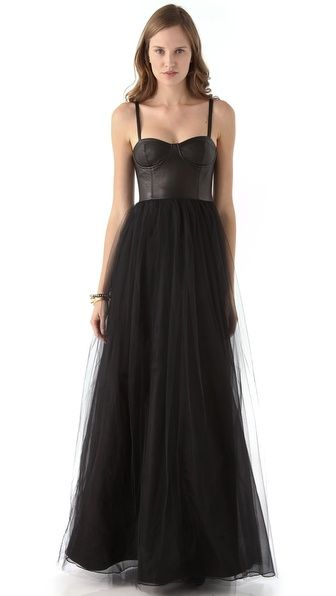 7de0edca346 alice + olivia Ona Leather Bustier Gown