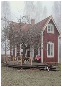 43 Little Red Cottage Home Decors In 2020 Tiny Cottage Small Cottages Red Cottage