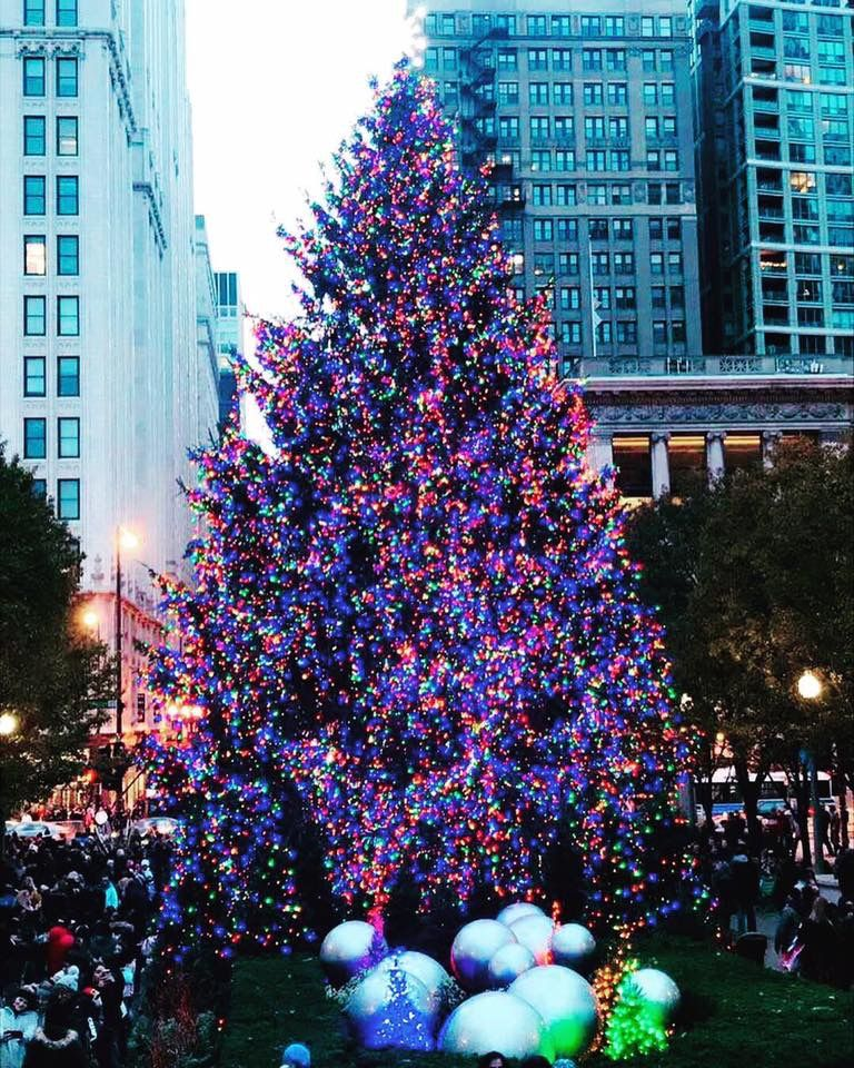 Christmas In Chicago 2018.Chicago S Christmas Tree 2018 My Chicago In 2019 Chicago