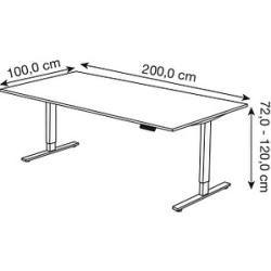 Photo of Kerkmann Move 3 height adjustable desk gray rectangular Kerkmann