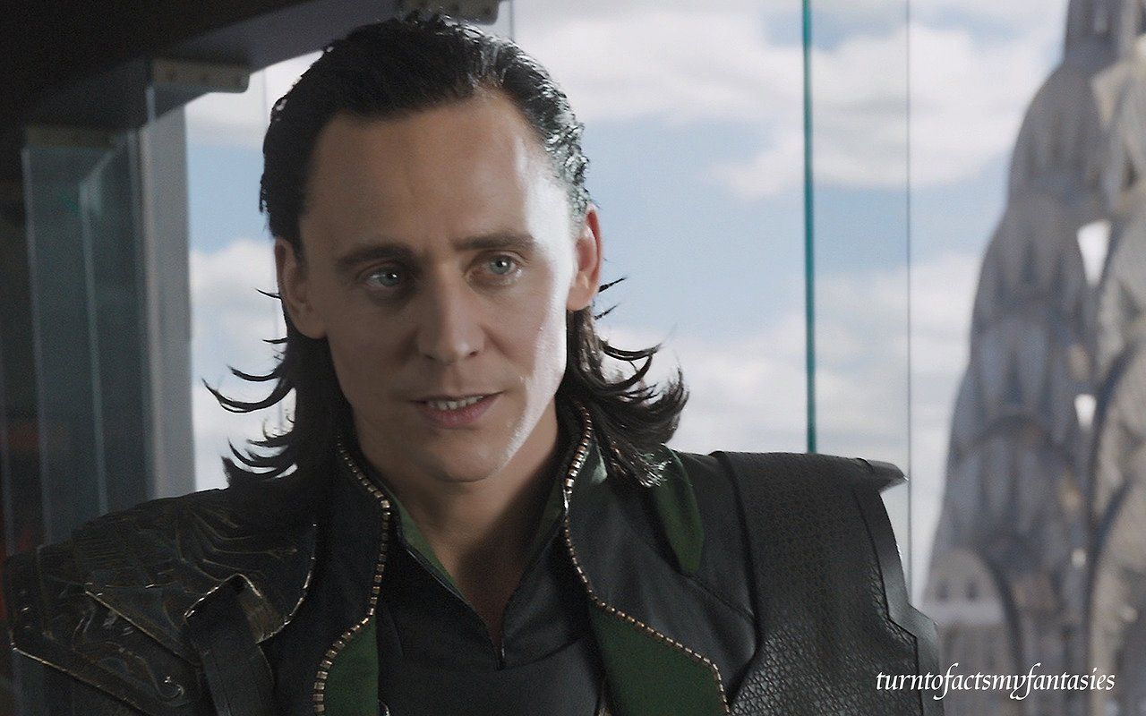 "Tom Hiddleston ""Loki"" Large still from ""The Avengers"" from http://turntofactsmyfantasies.tumblr.com/post/84523901345#notes"