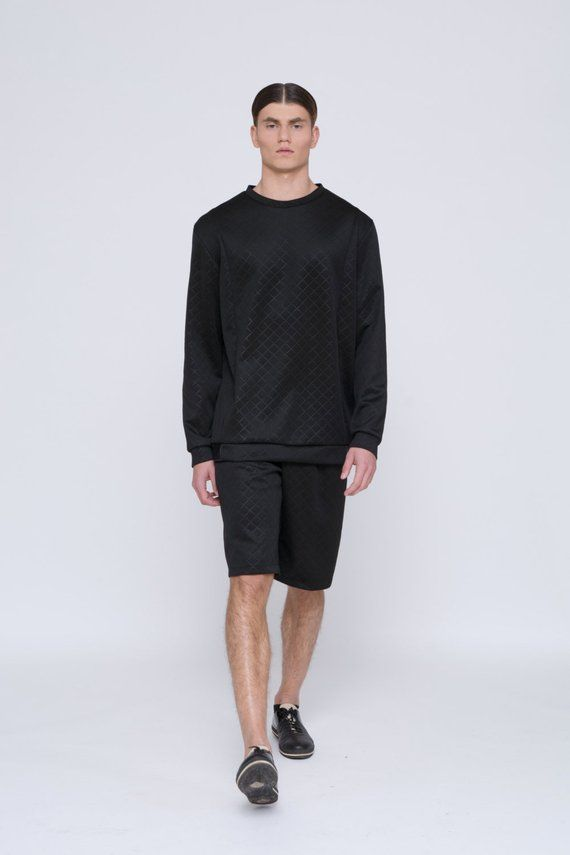 438d3d3a07dc Mens Sweater Mens Black sweater Mens Long Sleeve sweater Mens Oversized  sweater Diamond Sweater for