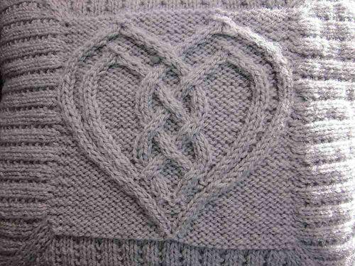 Cabled Heart Pattern By Devorgillas Knitting Sometimes Heart