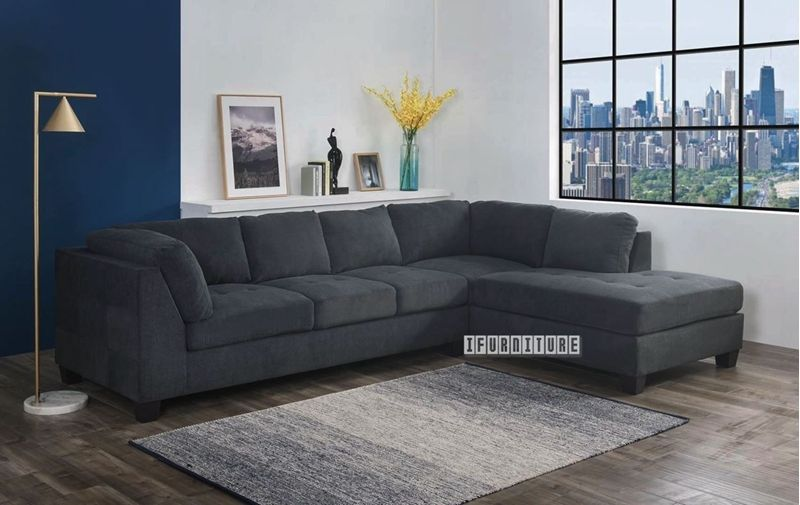 Newton Sectional Sofa Dark Grey Grey L Shaped Sofas Grey
