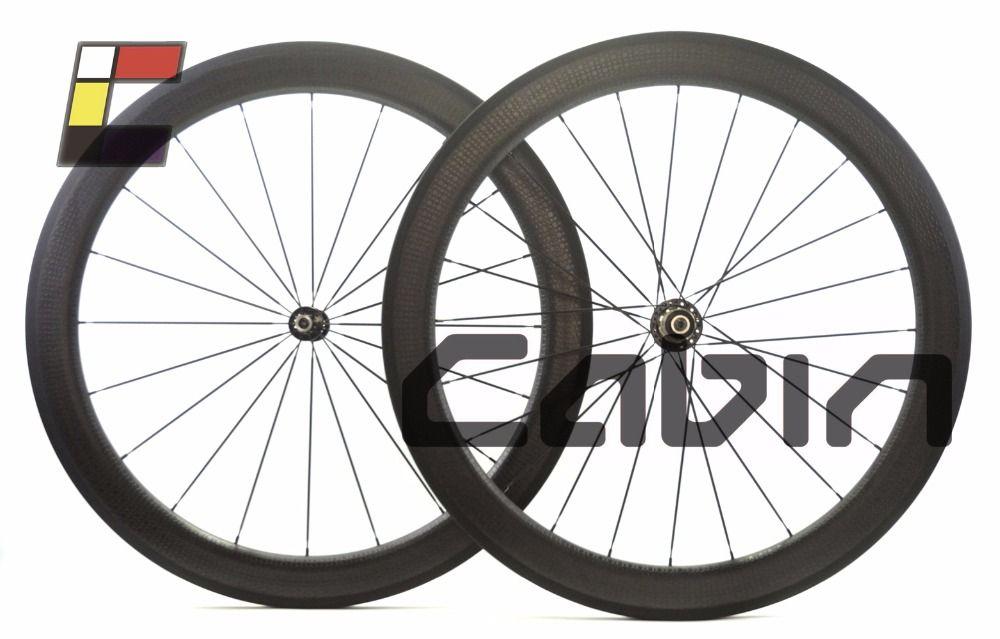 $430.00 (Buy here: http://appdeal.ru/efy0 ) 58mm road bike wheelset, 58mm clincher dimple wheel ,700C road bike carbon wheel for just $430.00