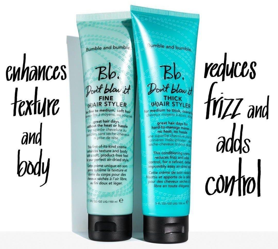 A textureboosting Bumble and Bumble styling cream