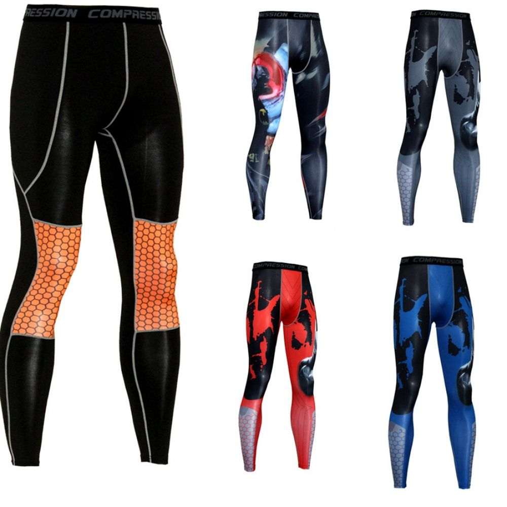 Details about  /Mens Gym Pants Compression Base layer Leggings Running Sports Trousers Joggings