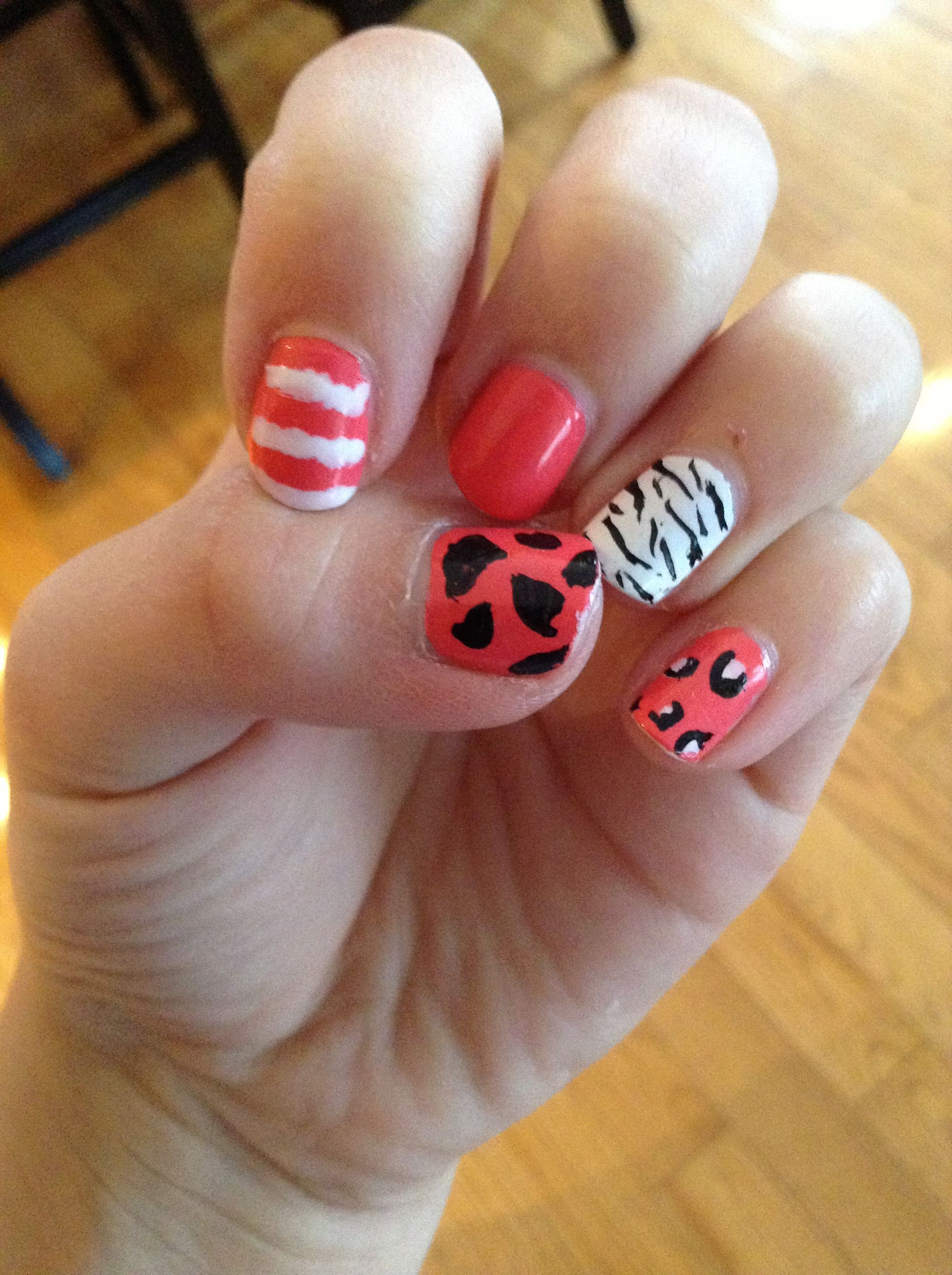 Just My 13 Yr Old Daughter Having Fun Freehandt Bad Nail