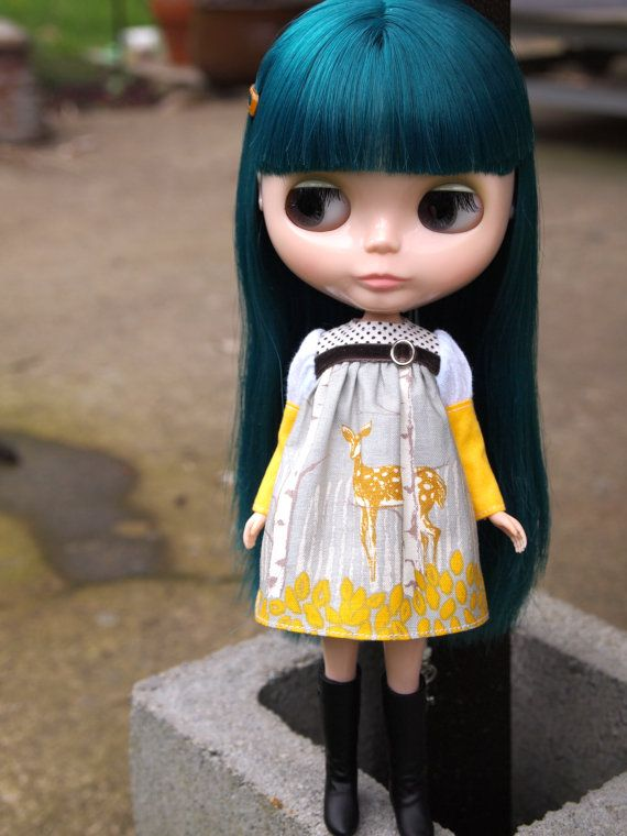 I am a Princess Baby doll dress  Oh Deer by fishknees on Etsy