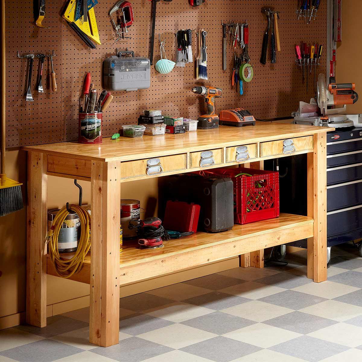 Simple Workbench Plans Simple workbench plans, Garage