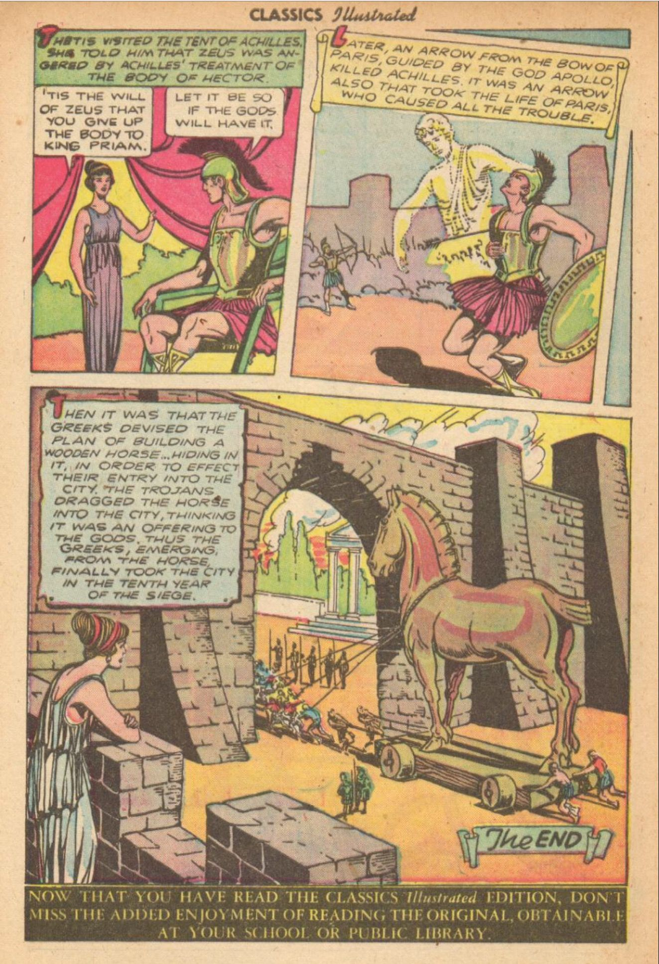 As Was Foretold The Death Of Achilles And The Fall Of Troy