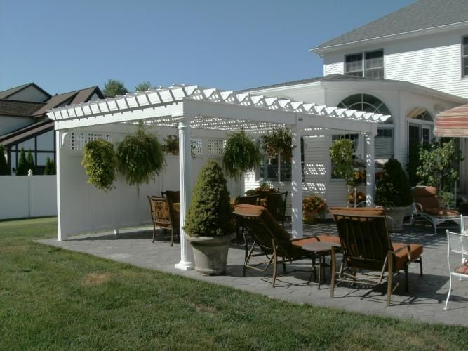 Vinyl Wooden Pergolas Add Style To Your Home With Images