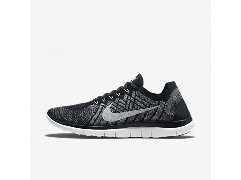 lowest price 9ad69 558bd ... get nike free 4.0 flyknit hommes chaussures pas cher noir wolf gris  dark gris ea2b5 c9965