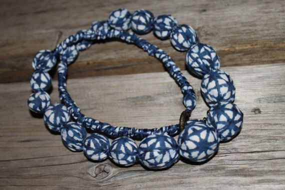 Batik FabricUpcycled Necktie necklace Silk by ChloeStoneDesigns