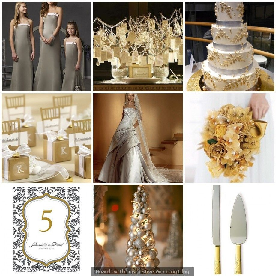 silver and gold wedding theme winter wedding theme idea