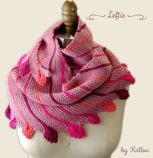 Leftie Scarf Pattern from Martina Behm on Ravelry | Chales,ponchos y ...