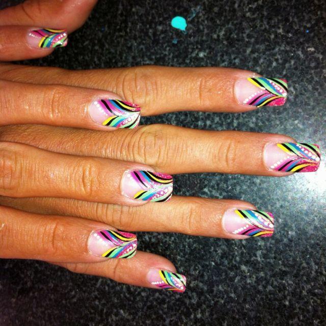 nail design angel pretty