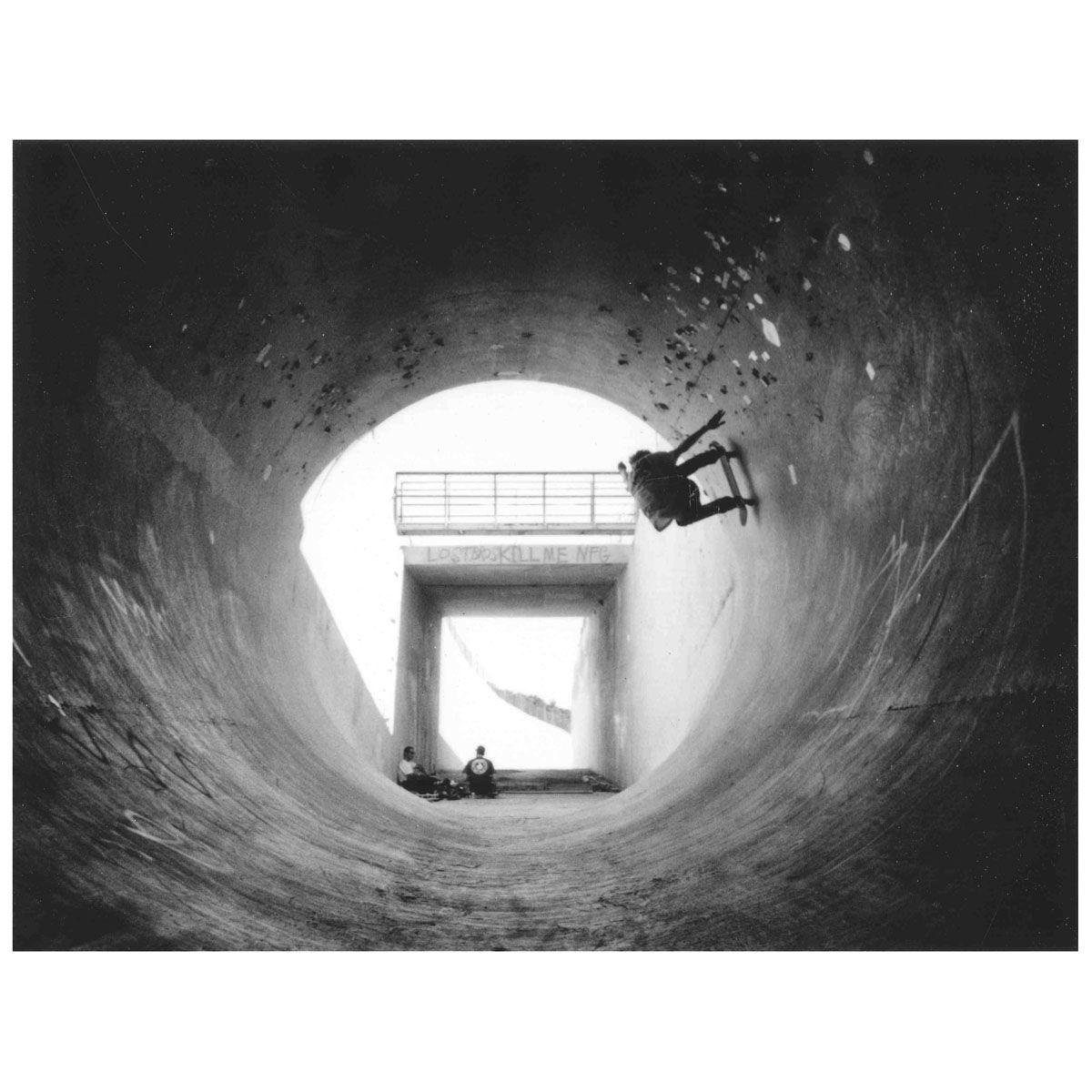 Through the tunnel...