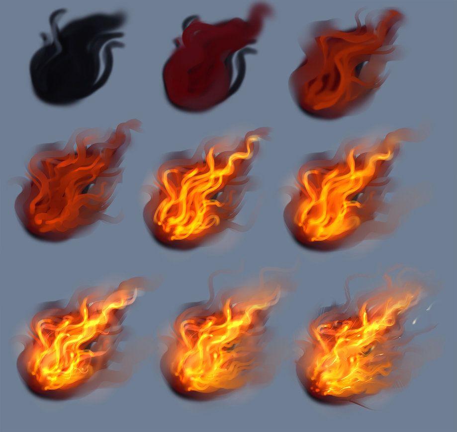Simple Things Digital Painting: Fire - Tutorial By *ryky On DeviantART