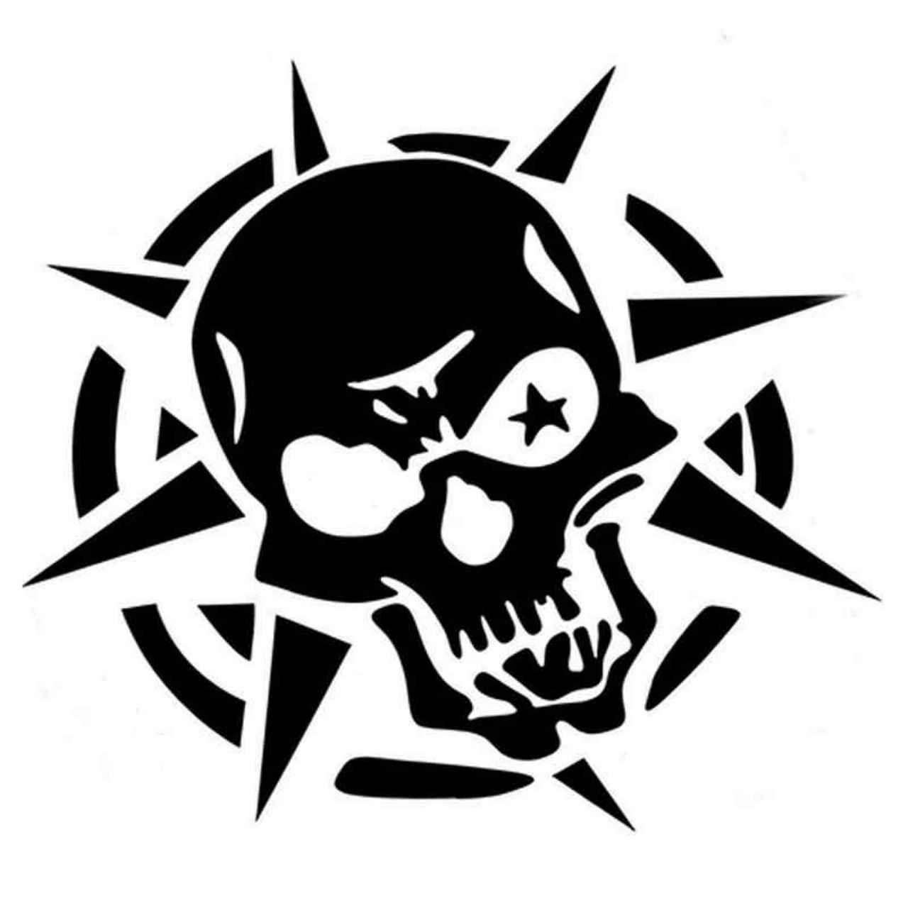 Skull Pv384 Vinyl Decal Sticker BallzBeatz . com Skull