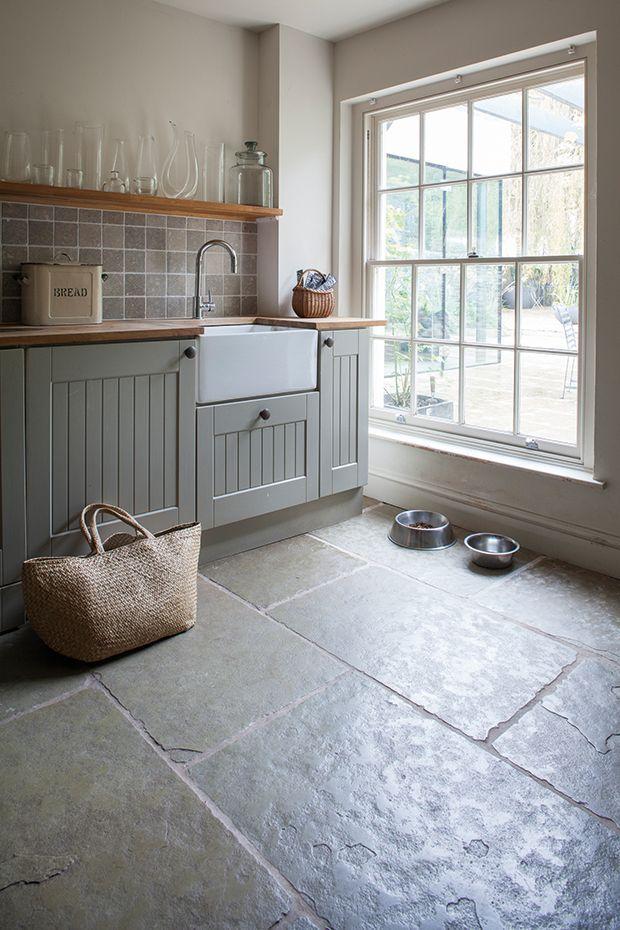 Jaipur Brushed Limestone From Mandarin Stone Slate Kitchen Kitchen Flooring Home Kitchens