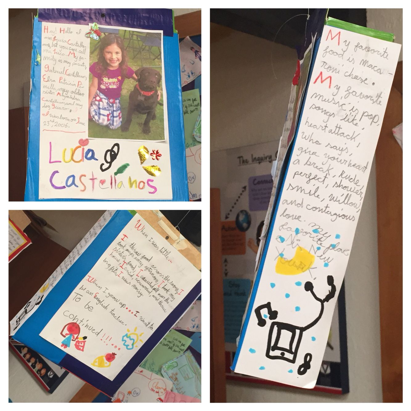 Cereal box autobiography for second graders