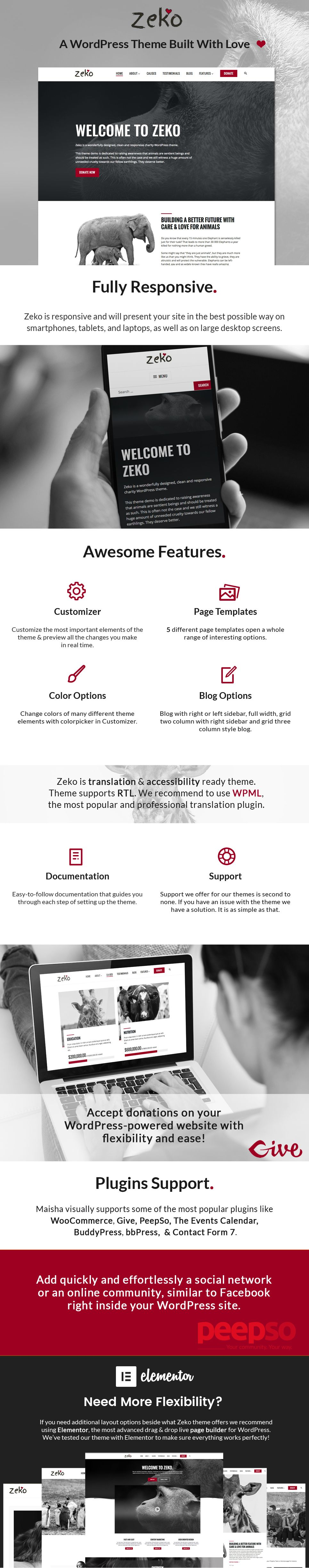 Zeko - Charity/Non-Profit WordPress Theme | Wordpress