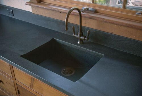 Kitchen Sink, Soapstone Sink And Counter Picture Kitchen