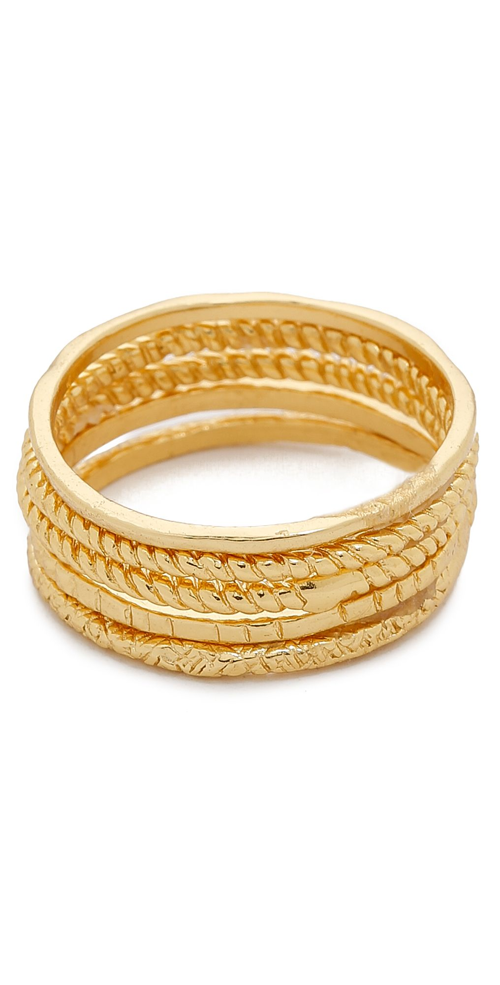 Gorjana Texture G Ring Set | SHOPBOP