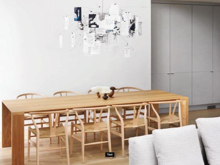 bensen radius table with wishbone chairs furniture