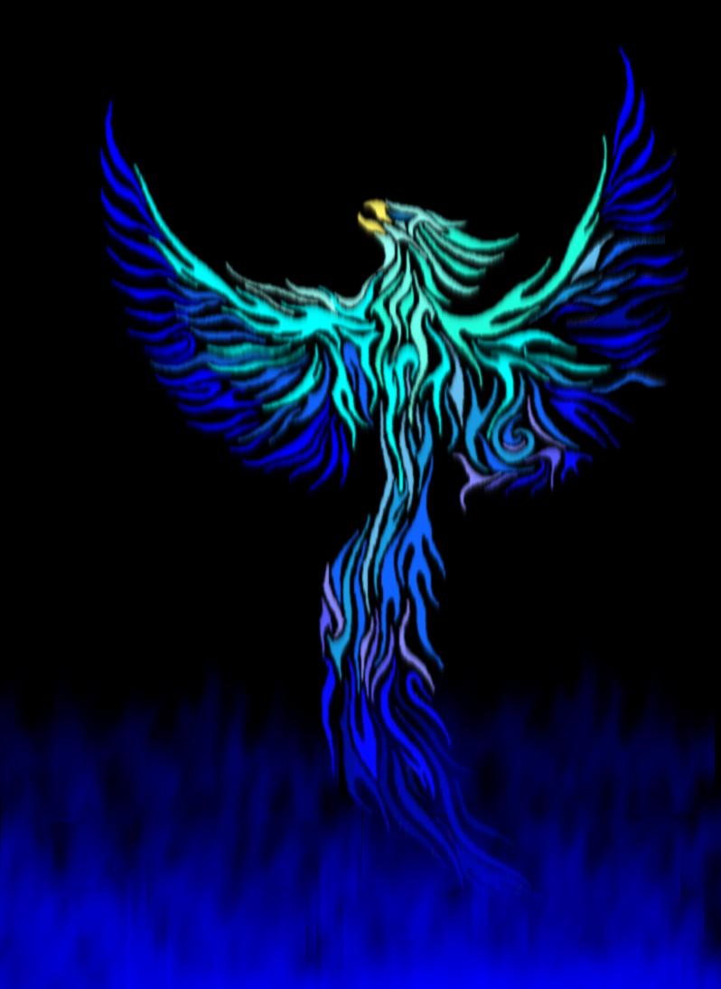 Blue Phoenix By Glacier Phoenix Png 798 1 094 Pixels Phoenix Bird Art Phoenix Tattoo Phoenix Bird Tattoos