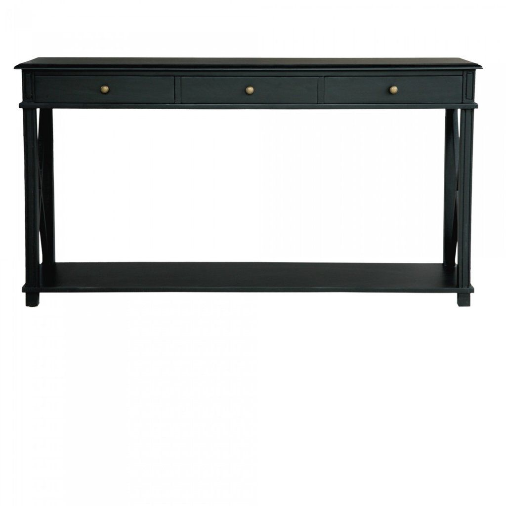 black console table. Interiors Online Manto Console Table Black $979 A