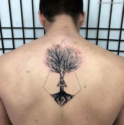 Tatuajes En La Espalda Para Hombres Tatuaje Arbol De La Vida Tatuajes Chiquitos Tatuaje Del Arbol De La Vida