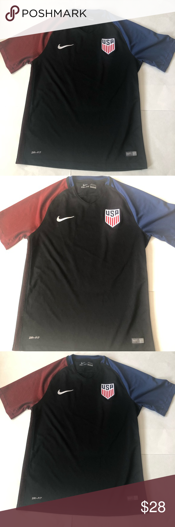af4554e9 Nike Shirts Tees - Short Sleeve · Nike Team USA Dri Fit Soccer Jersey Size  Medium Nike Team USA Dri Fit Soccer Jersey