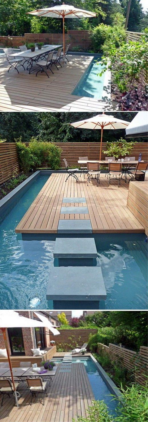 Piscinas para áreas pequenas Lap pools, Pool designs and Garden