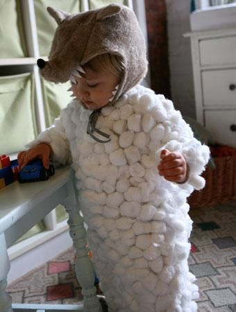 yes i dressed up as a cotton sheep sadly i didnt - Homemade Toddler Halloween Costume