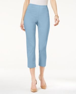 Style & Co Petite Pull-On Capri Pants, Only At Macy's - Blue P/XS