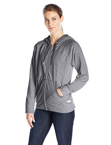 Calvin Klein Performance Womens French Terry Hooded Jacket Charcoal Small ** Check this awesome product by going to the link at the image.