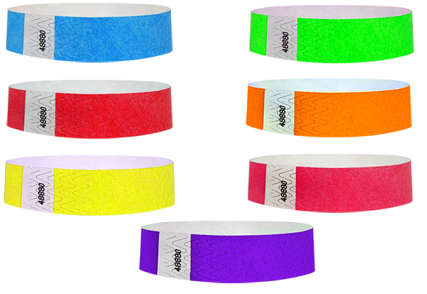"500 Pack Neon Orange 3//4/"" Tyvek Wristbands Party Carnival Bar Admission Bracelet"