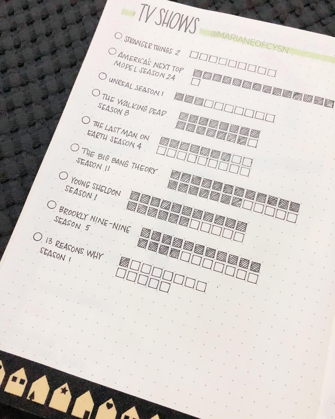 Bullet Journal Tv Series Tracker