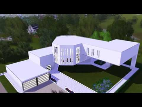 The Sims 3 House Modern Scenic Home Hd Youtube Mansions Sims Sims House