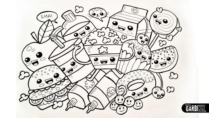 Dibujos Para Colorear Dibujos Kawaii On Log Wall