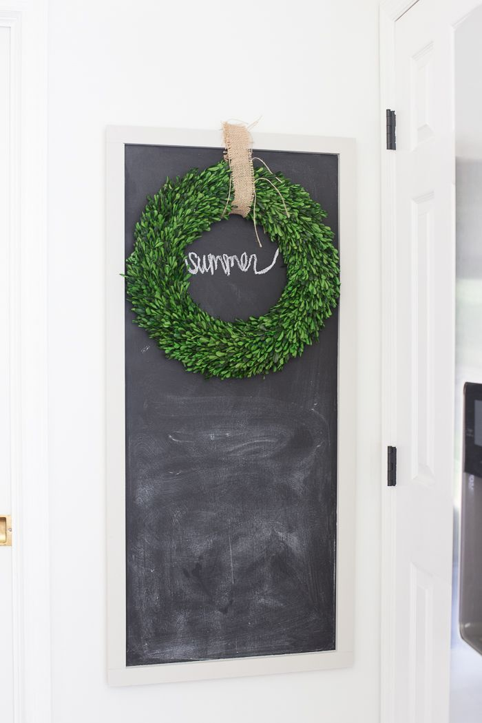 love this chalkboard in the kitchen perfect for little notes menu plan or family schedule - Summer Kitchen Menu