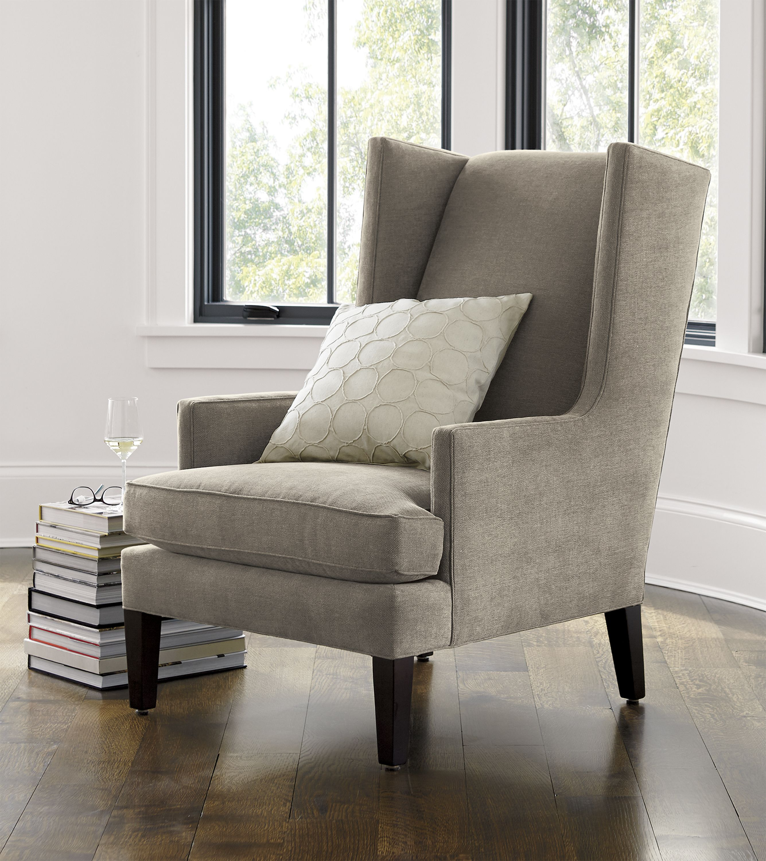 Our Modern Wing Chair Is A Casual Update On The Traditional Parlor