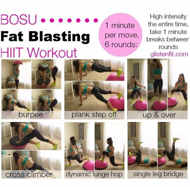 Bosu Ball Hiit: #bosufitness #workout #pinkbosu