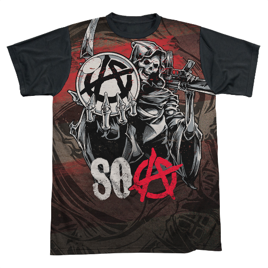 BACK OF SHIRT ISBLACK.High-quality, Officially licensed apparel. 100% Polyester, This item is hand-printed in the USA using a dye Sublimation printing process.