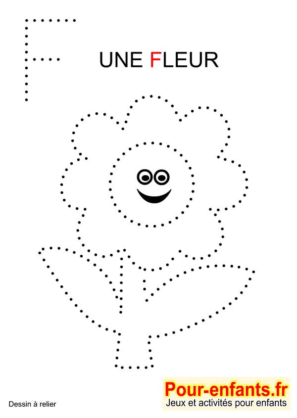 jeux imprimer maternelle jeu dessins a relier enfants de maternelle imprimer gratuitement dessin de fleur gratuit - Jeux Gratuit De Dessin