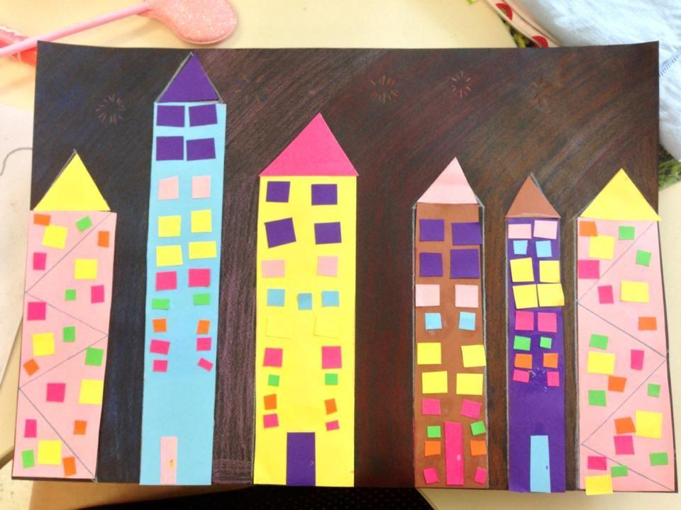 2D cityscape!