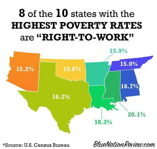 Labor Union States Map.Not To Sound Hyperbolic But States That Had Slave Labor For 250