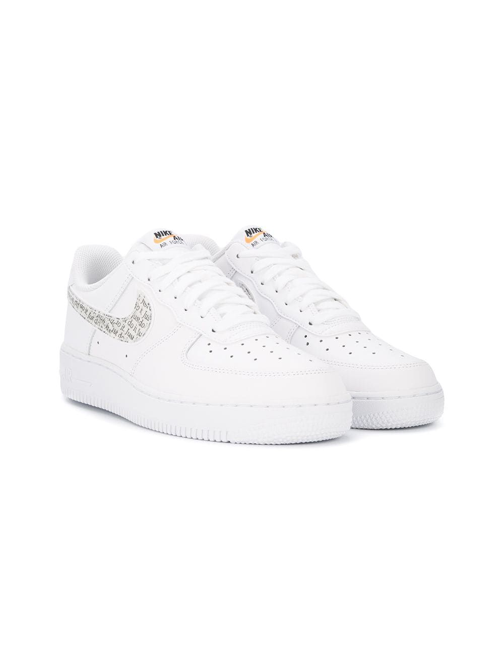 Nike Kids Air Force 1 07 Lv8 Jdi Lntc White Studded Sneakers Nike Kids Metallic Sneakers